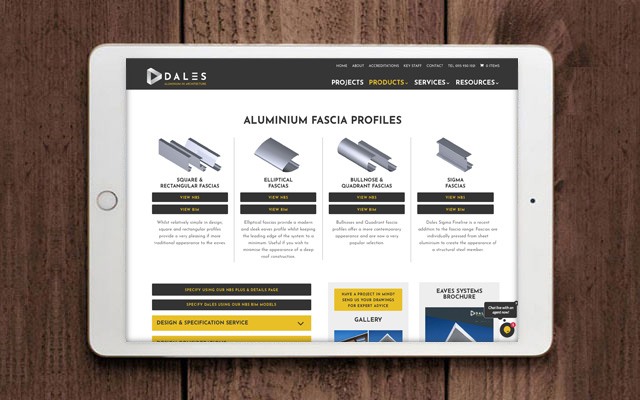 Dales website by CDP