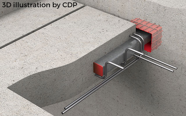 Telescopic connector illustration by CDP