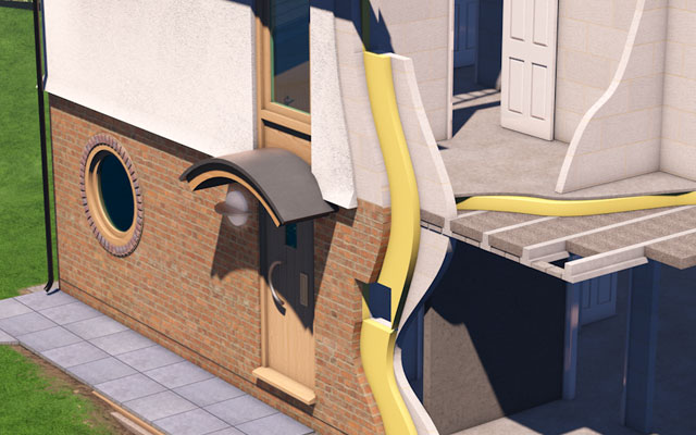 Tarmac House 3d illustration