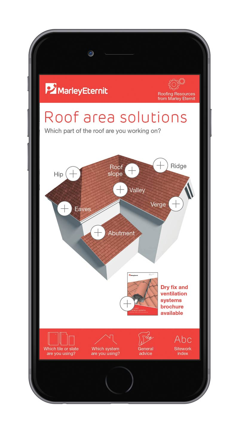 Sitework Guide app for Marley Eternit
