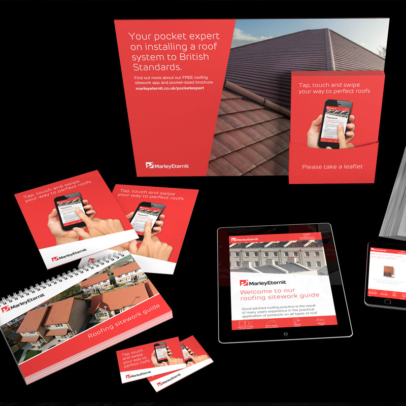 Site work guide collateral for Marley Eternit